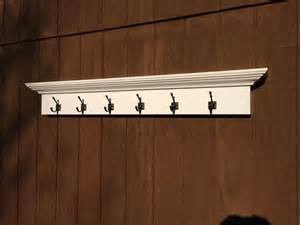 Entryway Hooks by Entry Way Coat Rack Shelf With 6 Hooks By Rayscustomwoodwork