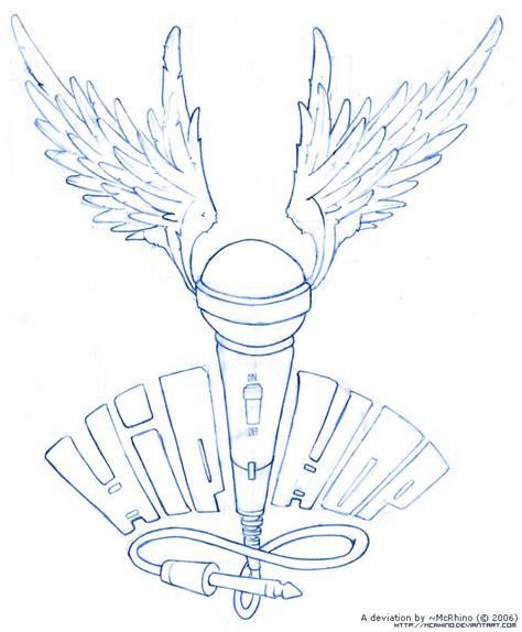microphone wings tattoo simson tattoo