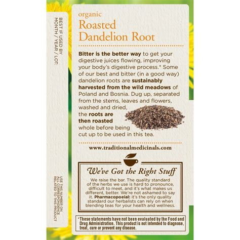 Roasted Dandelion Spice Detox Tea Benefits by Benefits Of Dandelion Root Tea Bag Style Guru Fashion