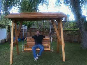 wooden swing stand alone pds woodwork picnic table
