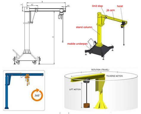 pedestal jib crane small free standing pedestal jib crane buy used jib