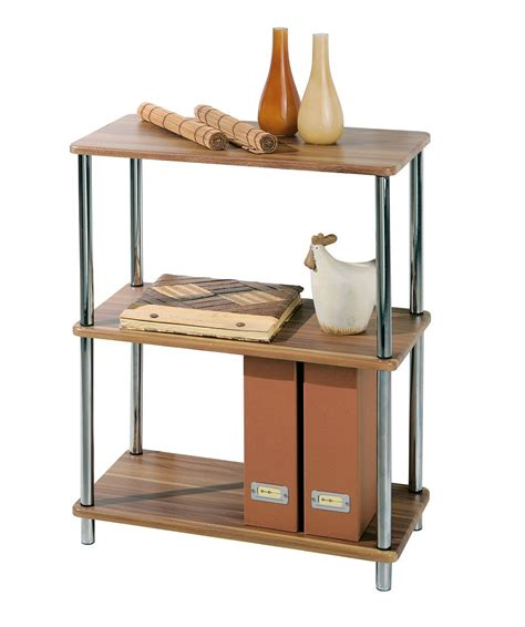 links salsa office home 3 tier metal shelf shelves