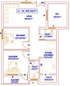 Sq Ft To Gaj home trichy garden floor plan 2bhk 2t 900 sq ft 900 sq ft