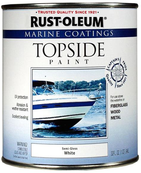 rust oleum paint marine topside coating alkyd semi gloss white 1 qt ea 207000 ebay
