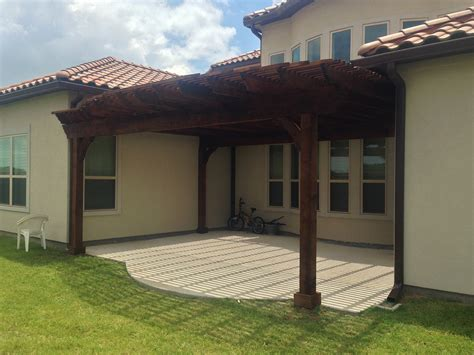 Patio Attached To The House by Plano Arbor Pergola Covers Beautiful Patio Hundt Patios