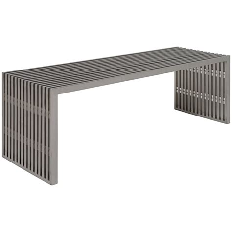 amici bench amici bench stainless modern digs furniture