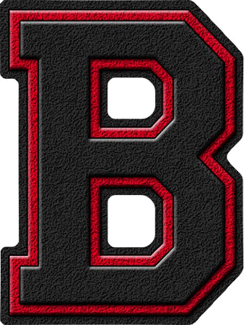Service Letter B W Presentation Alphabets Black Cardinal Varsity Letter B