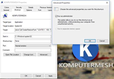 membuat dvd recovery windows 10 cara membuat restore point system restore di windows 10
