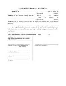 alberta revocation of power of attorney legal forms and
