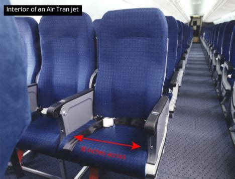 airplane jump seat dimensions passenger forced to stand on flight for seven hours