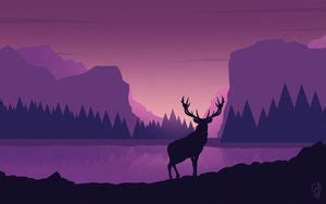 wallpaper deer air balloons photoshop hd picture image