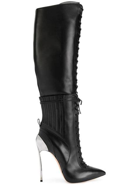 casa dei lyst casadei techno blade city rock boots in black