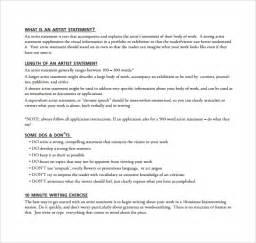 sle artist statement 9 documents in pdf word