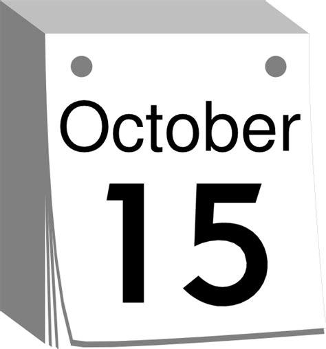 date clipart october calendar date clip at clker vector clip