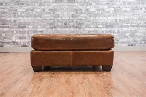 Bantal Sofa Custom 40x40 the classic 40x40 leather ottoman collection canada s leather sofas and furniture