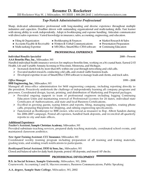 Resume Exles Education Administration Education Administration Sle Resume 5 Administrative Assistant Resume Sle Uxhandy
