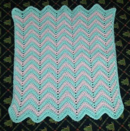 Crochet Ripple Baby Blanket Pattern by Baby Ripple Afghan Allfreecrochet