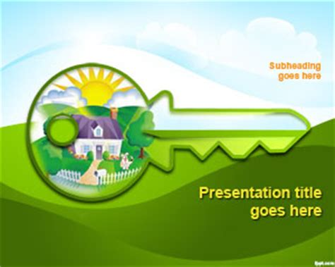 Free Green House Concept Powerpoint Template Green It Concept Ppt