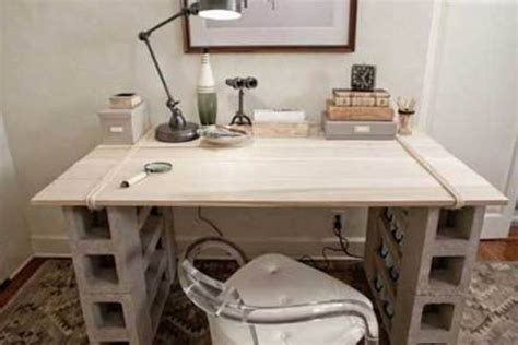 Cinder Block Desk by How To