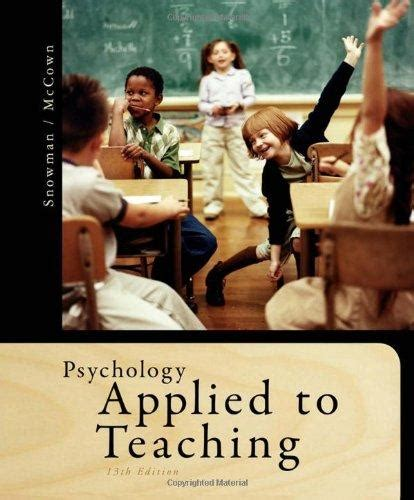 Psychology Applied14 isbn 9781111298111 psychology applied to teaching 13th