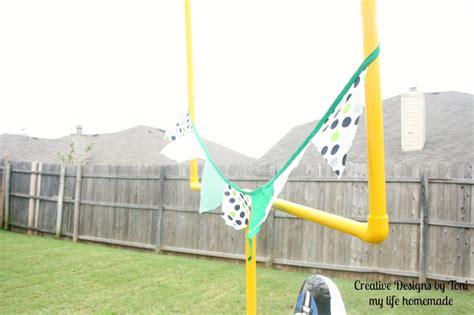 backyard football goal post my life homemade diy backyard football practice goal post
