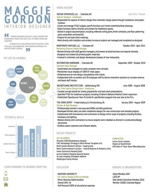 resume sles for interior designers interior design resume resume