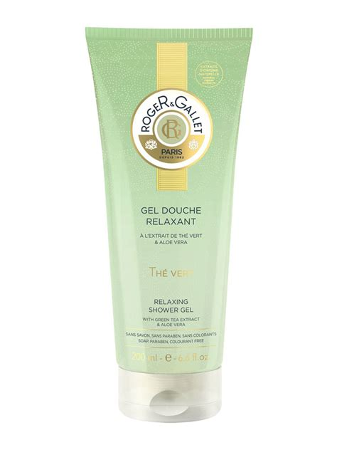 roger gallet relaxing shower gel green tea 200ml