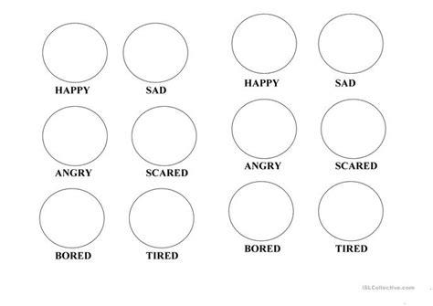 emotions coloring pages worksheet free esl printable