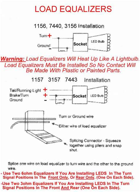 load resistor vs load equalizer 04 08 how to install resistors if you led turn signals my6thgen org maxima forum