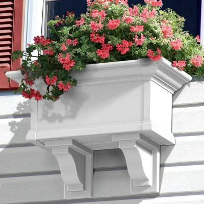 home depot window boxes mayne 12 in x 24 in vinyl window box 4822w