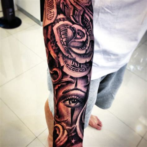 money sleeve tattoo designs 80 money designs for cool currency ink