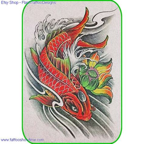 high quality tattoo designs koi flower design 23 for you on etsy top quality