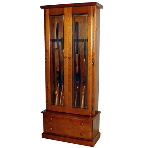 used gun cabinets for sale scout 1119 gun cabinet solid pine 12 gun gs1119