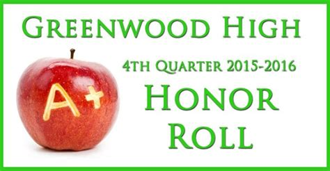 Do They Announce Honors And High Honors Are Mba Graduation by Greenwood High 2nd Quarter Honor Roll Announced