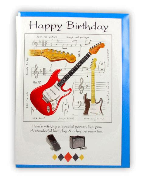 Birthday Wishes Musical Cards Electric Guitar Birthday Card Music Card Musical Gifts