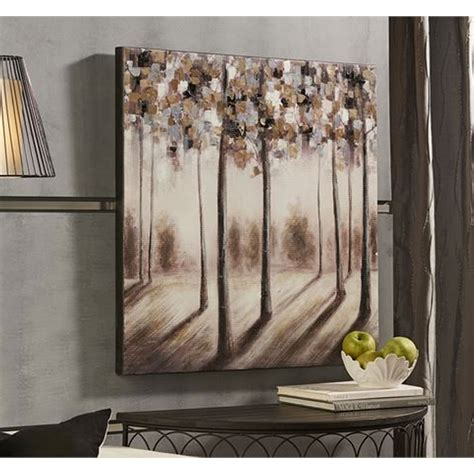 gift craft home decor giftcraft 086059 trees oil painting on canvas hope home