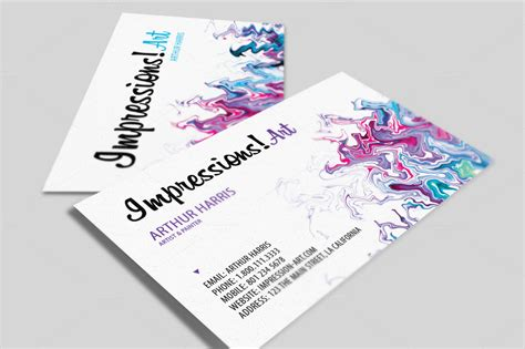 artist business cards templates free artistic design business card bundle business card