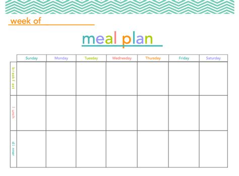 meal plan template word free printable dinner planner template calendar template 2016