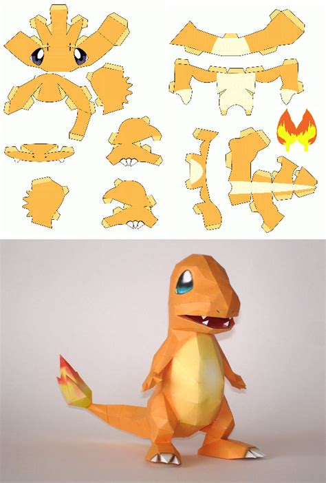 Papercraft Charmander - gotta craft em all