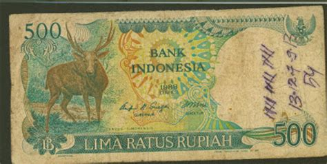 Uang Kuno Asli Lima Ratus Rupiah Orang Utan uang kertas kuno indonesia nominal rp 500 lima ratus