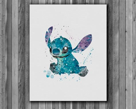 stitches painting disney watercolor paintings