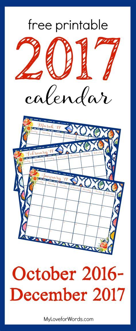 Calendar 2017 October Thru December Calendar Starting December 2017 Calendar Template