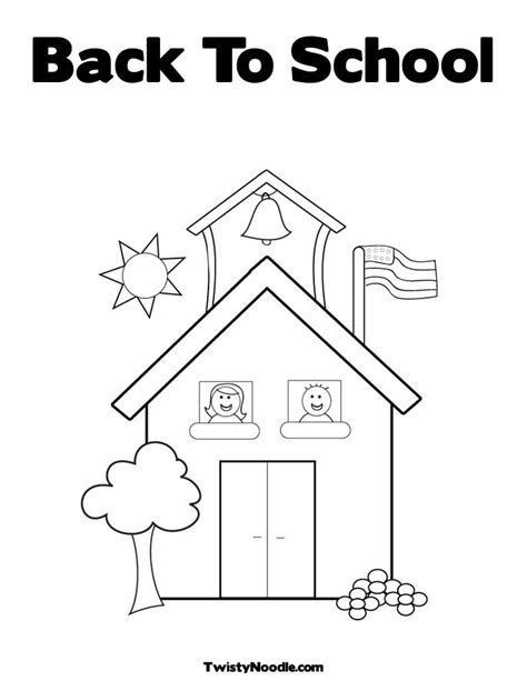 free coloring pages of back to school bus