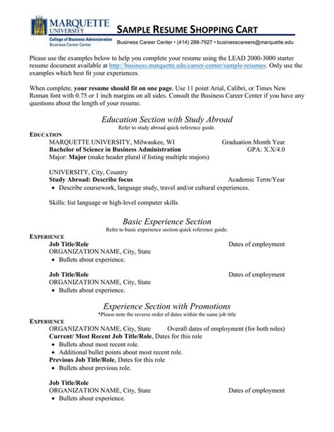 100 experience section resume livecareer my