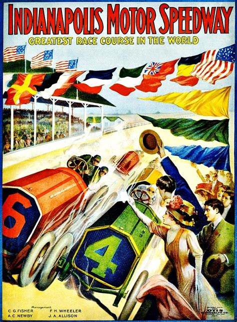 classic photos of the indianapolis 500 vintage poster sports indy 500 photograph by benjamin