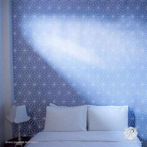 Interior Paint Stencils by Shibori Japanese Wall Stencil Studios Wall Decor