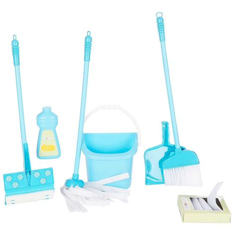 Cleaning Set 10pc deluxe childs cleaning set mop broom toddler preschool boys blue ebay