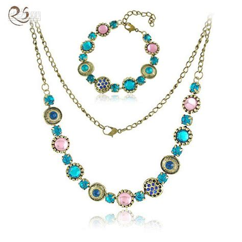 Best Quality S025 Costume Jewelry Vintage Necklace /Bracelet Sets At Cheap Price, Online