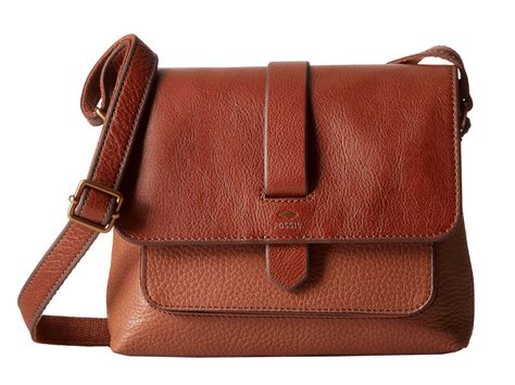 Fossil Kinley Brown Small fossil kinley small crossbody in brown lyst