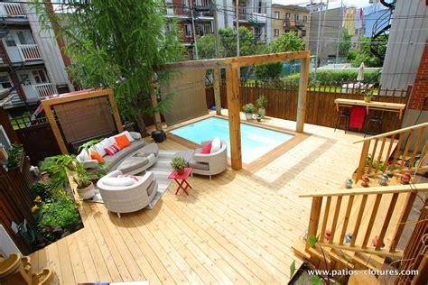patio en bois terrasse en bois autour d une piscine fibro patios en bois